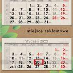 Agencja Reklamowa REKOS - kalendarz trójdzielny ECO