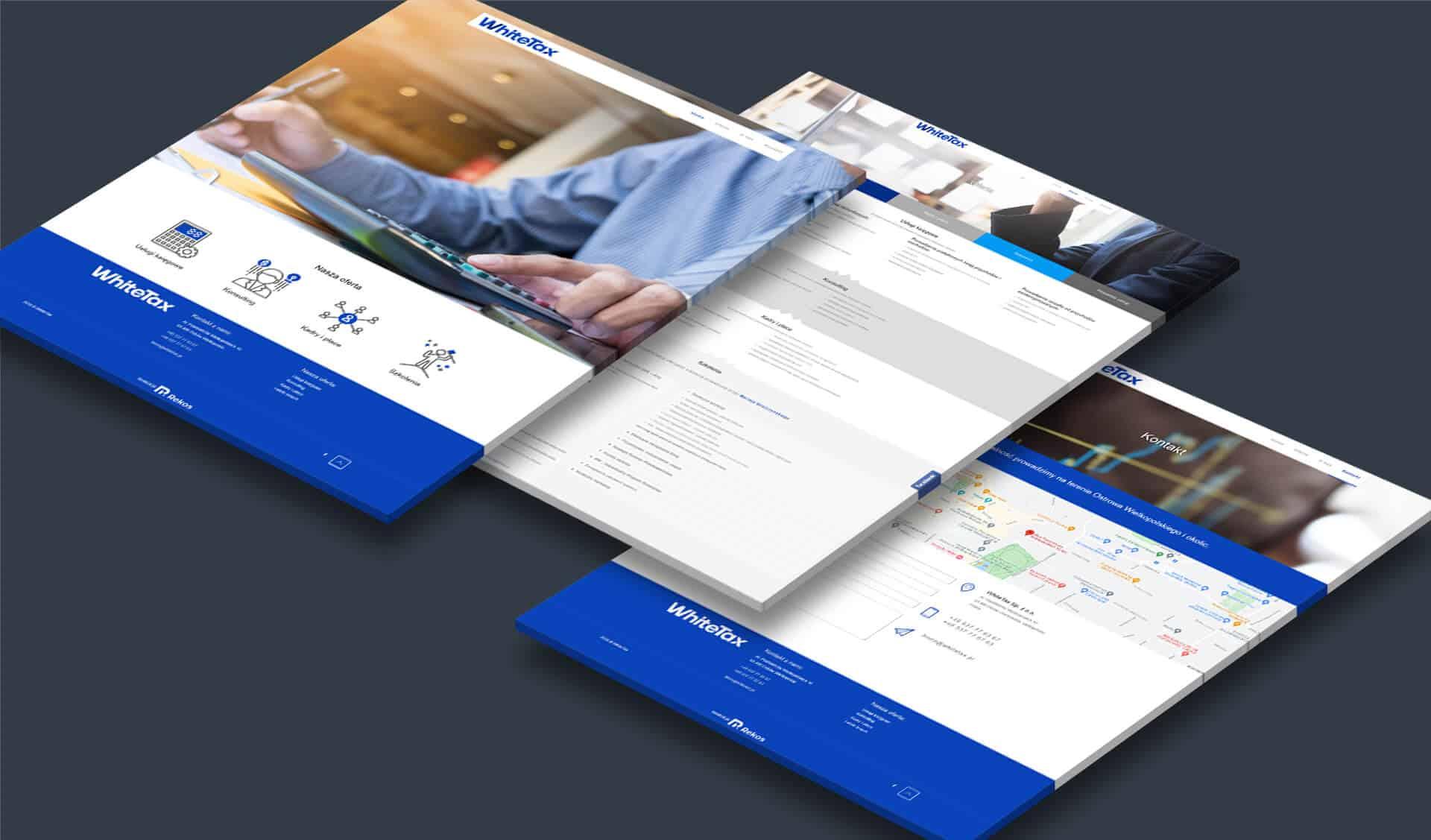 Agencja Reklamowa REKOS - WhiteTax - strona internetowa