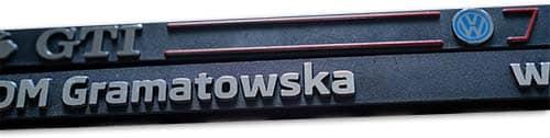 Agencja Reklamowa REKOS - ramki pod tablice rejestracyjne - nadruk 3D