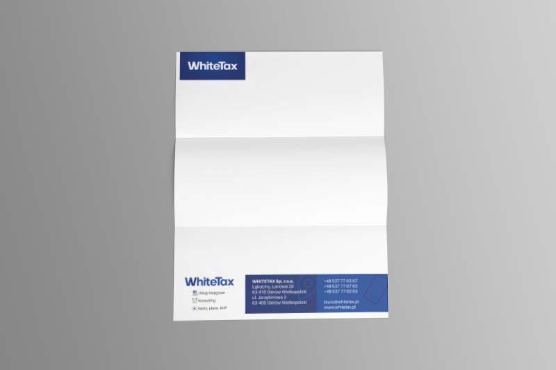 Agencja Reklamowa REKOS - WhiteTax - papier firmowy