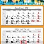 Agencja Reklamowa REKOS - kalendarz trójdzielny standard